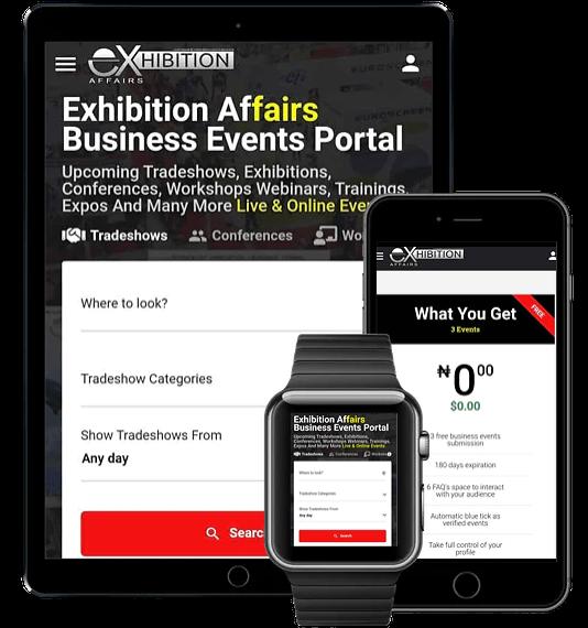 Exhibition Affairs Business Events Portal Usage