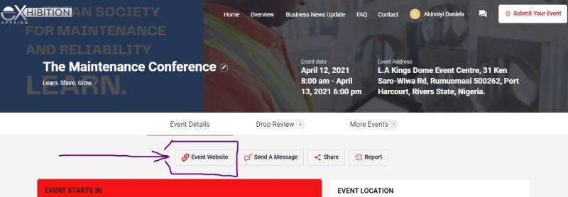 FAQ Event Website Link Illustration.